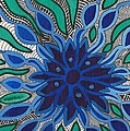 Blooming In Blue by Barbara St Jean