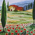 Blooming Poppy In Tuscany by Christine Huwer