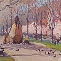 Blooms On Comm Ave by Dianne Panarelli Miller