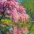 Blossoming Trees Landscape  by Svetlana Novikova