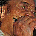 Blowin His Blues Harp by Mike Martin