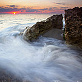 Blowing Rocks Sunrise by Mike  Dawson