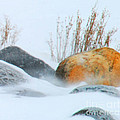 Blowing Snow And Rocks by Optical Playground By MP Ray