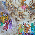 Blowing The Shofar At Jericho  by Anne Cameron Cutri