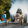 Blown Front Engine Dragster Burnout by Todd Aaron