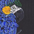 Blu And Gold Macaw by Emily Bemelmans