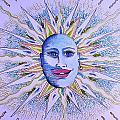 Blu Glitter Sun by Ru Tover