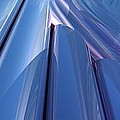 Blue Abstract by Lyle Hatch
