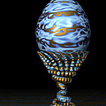 Blue And Golden Egg by Hakon Soreide