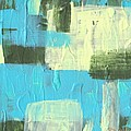 Blue And Green Abstract by Paulette B Wright