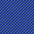 Blue And Green Diagonal Plaid Pattern Cloth Background by Keith Webber Jr