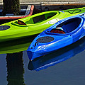 Blue And Green Kayaks by Tikvah's Hope