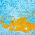 Blue And Orange Wall Texture by Dutourdumonde Photography