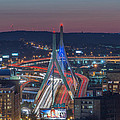 Blue And Red Zakim by Bryan Xavier