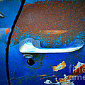 Blue And Rusty Picking by Gwyn Newcombe
