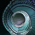 Blue And Silver Spiral Stairs by Jaroslaw Blaminsky