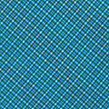 Blue And Teal Diagonal Plaid Pattern Textile Background by Keith Webber Jr