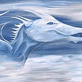 Blue And White Dragon by Kimberly Vital