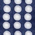 Blue And White Shibori Balls by Linda Woods