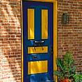 Blue And Yellow Door by Terry DeHart