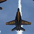 Blue Angels Overhead Break  by John Daly