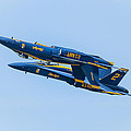 Blue Angels Upright And Inverted 2 by Brad Hartig - BTH Photography