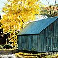 Blue Barn by Barbara Jewell