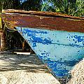 Blue Beached Canoe by Jess Kraft