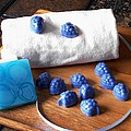 Blue Berries Mini Soaps by Anastasiya Malakhova