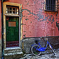 Blue Bicycle Monterosso Italy Dsc02592  by Greg Kluempers
