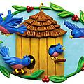 Blue Birds Fly Home by Amy Vangsgard