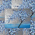 Blue Blossom Tree by Cathy Jacobs