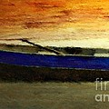 Blue Boat At Sunset by Sandra Bauser Digital Art