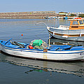 Blue Boat In Sozopol Harbour by Tony Murtagh
