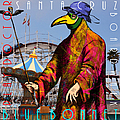 Blue Bonnet Play Doctor Of Santa Cruz Boardwalk 20140309 Square With Text by Wingsdomain Art and Photography