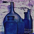 Blue Bottles by Marsha Heiken