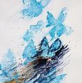 Blue Butterflies by Zaira Dzhaubaeva