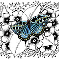 Blue Butterfly by Billinda Brandli DeVillez