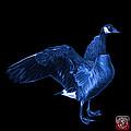 Blue Canada Goose Pop Art - 7585 - Bb  by James Ahn