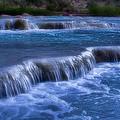 Blue Cascades by Ellen Heaverlo