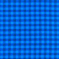 Blue Checkered Tablecloth Fabric Background by Keith Webber Jr