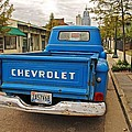 Blue Chevy Tailgate by Michael Thomas