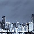 Blue Chicago Skyline by Sebastian Musial