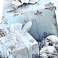 Blue Christmas Gift Boxes by Elena Elisseeva