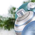 Blue Christmas Ornaments by Elena Elisseeva