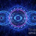 Blue Circle Fractal by Martin Capek