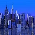 Chicago Blue City by Louis Ferreira