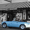Blue Classic Car In Jamestown by RicardMN Photography