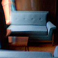 Blue Couch Starlite Lounge by Lisa Cowley