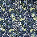 Blue Daisies Design by William Morris